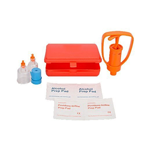 Emergency First Aid Supplies SOMAN Venom Suction Pump Extractor Bite and Sting Kit Poison Remover Snake Insect Outdoor Camping