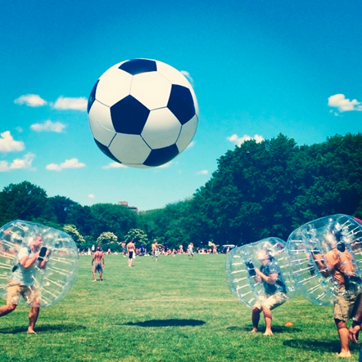 soccer bubble ball