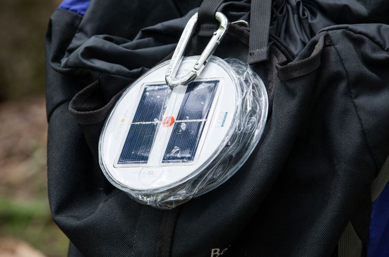 adventure and off grid solar lamp