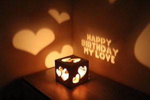 personalised gift, Personalised Candle Shadow