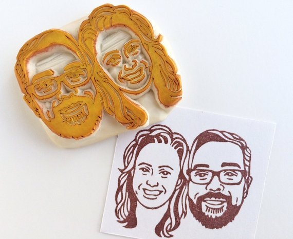 customised portrait stamp