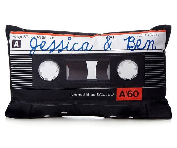 unique upholster Personalised Cassette Pillow